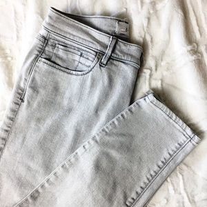Lou & Grey High Rise Skinny Jeans Stonewashed Grey